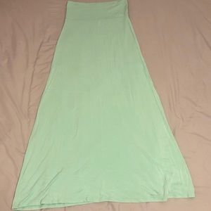 Moa Mint Green Maxi Skirt